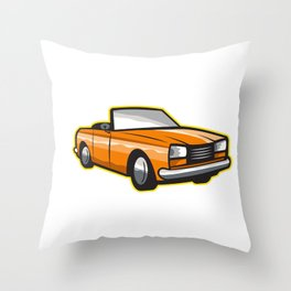 Vintage Cabriolet Fleur-de-Lis  Throw Pillow