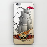 ship iPhone & iPod Skins featuring ship by mark ashkenazi