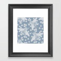 Papercut Bees Framed Art Print