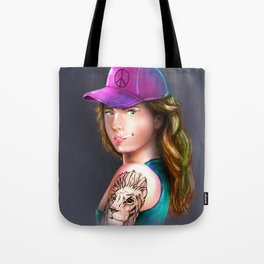 tattoo girl Tote Bag