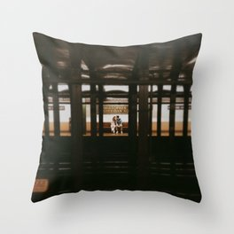 New York Subway Station: Christopher Street Sheridan Square Throw Pillow