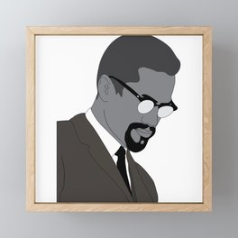 Malcolm X. By Any Means. Poster. Print. Case Framed Mini Art Print