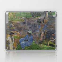 1887 - Gauguin - On the shore of the lake at Martinique Laptop & iPad Skin