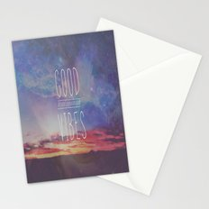 good vibes, good days Stationery Cards