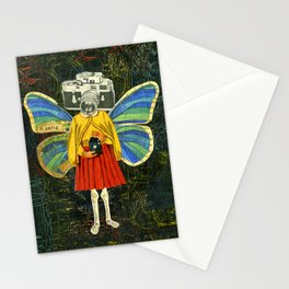 Katie Butterfly Collage Stationery Cards