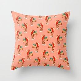 Miss Giraffe Throw Pillow