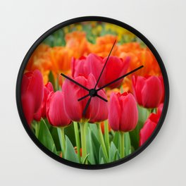 Colourful Tulips Wall Clock