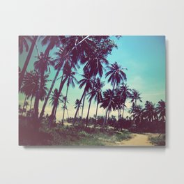 Road of palm trees Metal Print