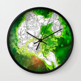 The Green Lantern by Derek Dobbels Wall Clock