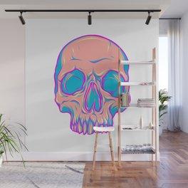 Colored skulls Wall Mural