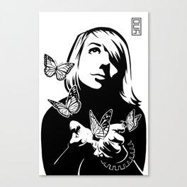 Lili + The Butterflies Canvas Print