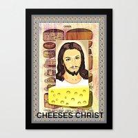 christ Canvas Prints featuring CHEESES CHRIST by Kathead Tarot/David Rivera