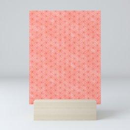 Living coral flower of life pattern Mini Art Print