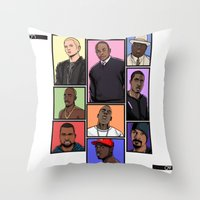 hiphop Throw Pillows featuring HipHop Legends by Akyanyme