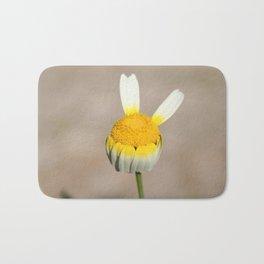 Hippie flower making peace sign Bath Mat