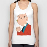 will graham Tank Tops featuring Knuckle Head II - Graham by RUMOKO x Vintage Cheddar