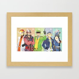 Keroro Gunso Gijinka Poster Framed Art Print