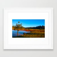 plain Framed Art Prints featuring plain by gurkanaydin