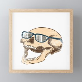 "Happy Halloween Shirt For October November Skully ""Skull Squad"" T-shirt Design Creepy Spooky Framed Mini Art Print"