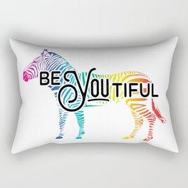 """""""BeYOUtiful"""" - Colorful Zebra Design Rectangular Pillow"""