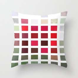 Red Rose Edges Abstract Rectangles 2 Throw Pillow