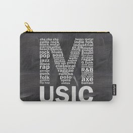 Chalkboard Music Genres Carry-All Pouch