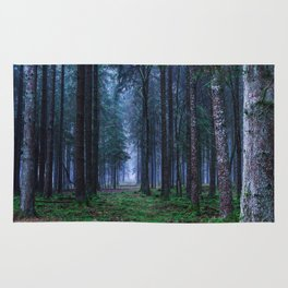 Green Magic Forest - Landscape Nature Photography Rug