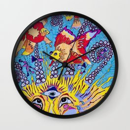 Lion of the Sea Wall Clock