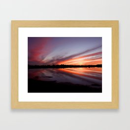 Don't discount a mud puddle, for it is still a canvas that can be painted Framed Art Print