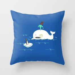 A Whale Of A Gentleman Throw Pillow
