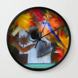 Surrounded In Fall Color Wall Clock