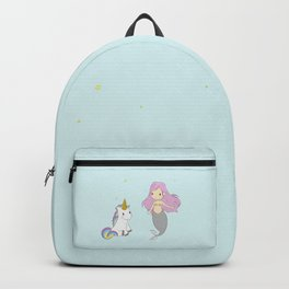 Unicorn and mermaid Backpack