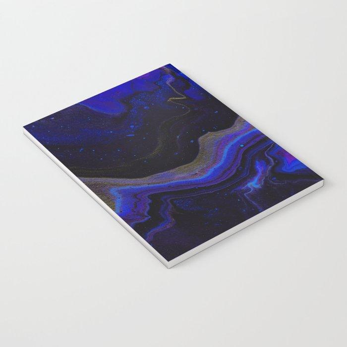 Dark Purple Blue Galaxy - Midnight Shades Notebook