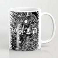 occult Mugs featuring Occult horse by Iria Alcojor