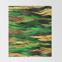 Gold & Emerald Throw Blanket