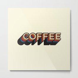 Trippy Coffee Metal Print
