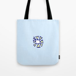 flower and square Tote Bag