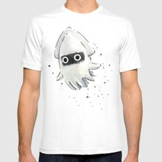 Blooper Squid Mario Watercolor Geek Art MEDIUM Mens Fitted Tee White