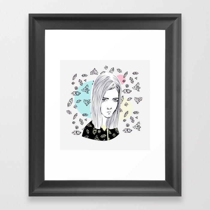 you are my geometric desire... Framed Art Print