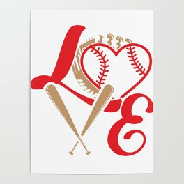 Baseball Lovers Softball Mom Fan Gift Poster