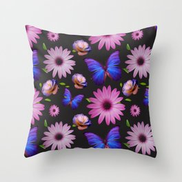 Spring invading the house with flowers Throw Pillow