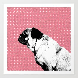 The Pug is a Heartbreaker Art Print
