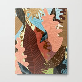 Earthy Forest Metal Print
