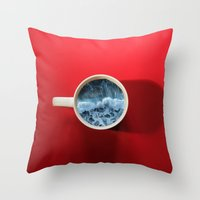 witchoria Throw Pillows featuring Seapression by witchoria