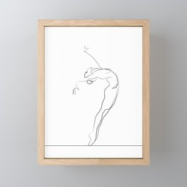 Dancer Line Drawing Framed Mini Art Print