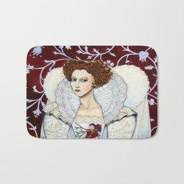 Elizabeth, the Virgin Queen, Queen of Hearts Bath Mat