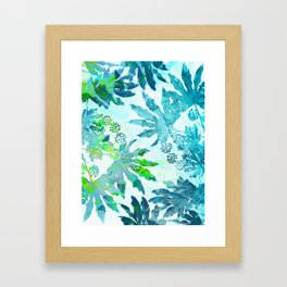 Tropical adventure - Blue Framed Art Print