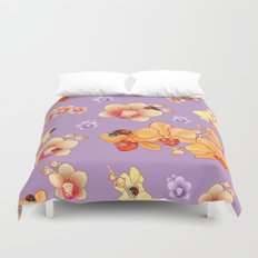 Orchids & Ladybirds Duvet Cover
