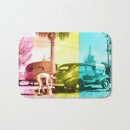 Sarasota Florida Trailer Park Series Car Wash Bath Mat