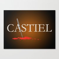 castiel Canvas Prints featuring Castiel by Manny Peters Art & Design